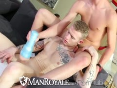 HD ManRoyale – Cute guy jerking off gets fucked by his friend