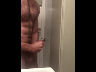 jerking off thinking about his roommate